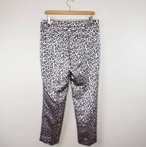 Banana Republic Pants - Banana Republic | Avery Leopard Ankle Pants